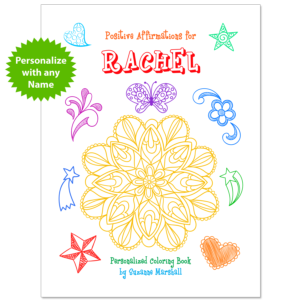 Personalized Book with Affirmation Coloring Pages