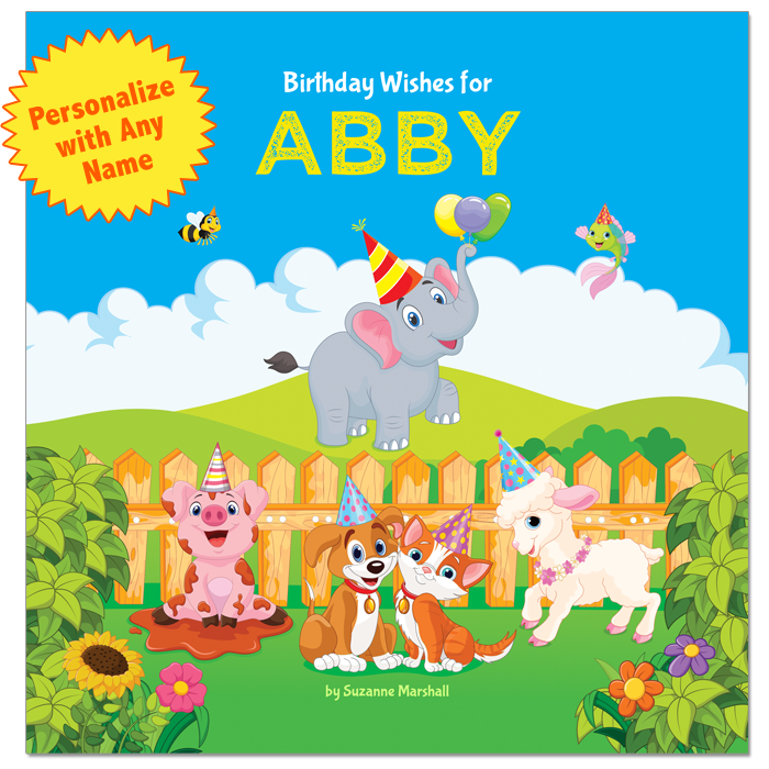 Birthday wishes for kids, birthday poems for kids, personalized books, personalized gifts, gifts for kids.