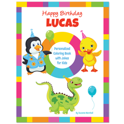 Birthday Jokes for Kids (Personalized Coloring Book)