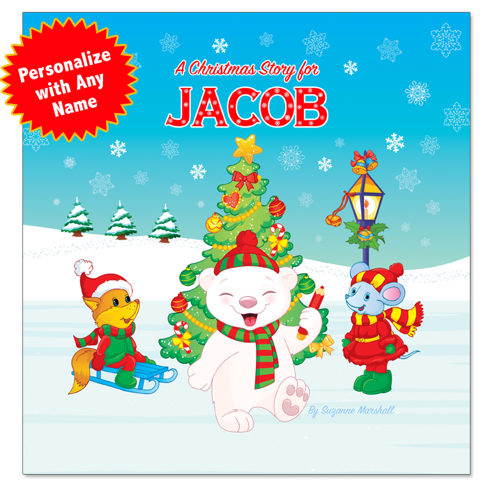 Personalized Christmas Book with Christmas Wishes for Kids & Christmas Coloring Pages