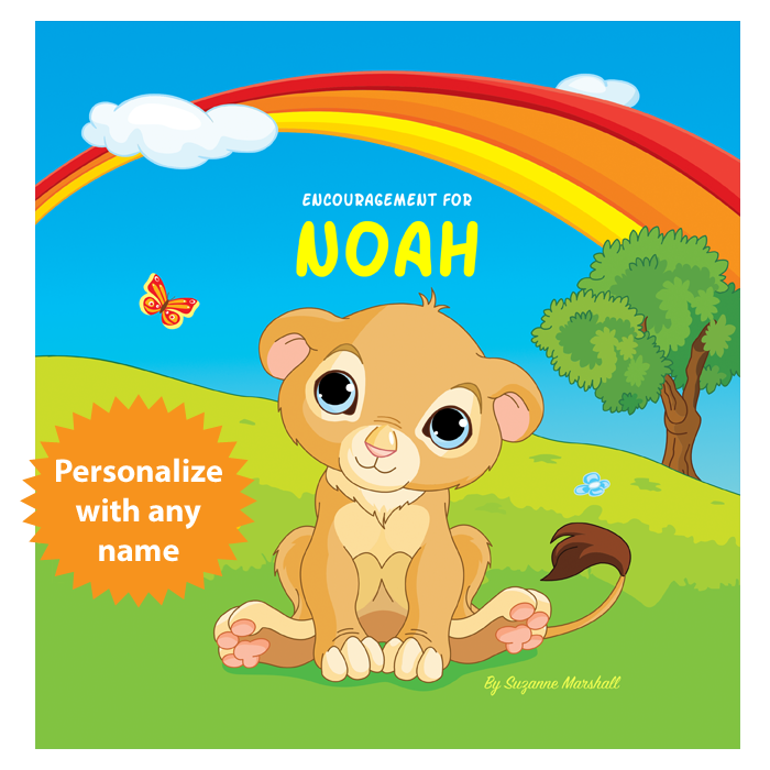 Personalized Book with You Can Do It and Words of Encouragement for Kids