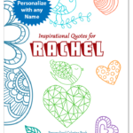 Personalized Book with Inspirational Coloring Pages