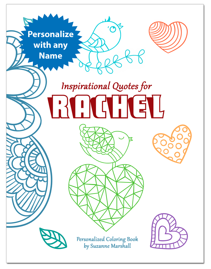 Personalized Coloring Book with Inspirational Coloring Pages and Inspirational Quotes for Kids