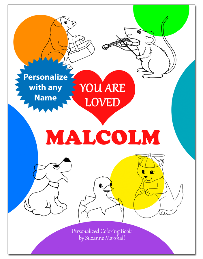 You Are Loved: Personalized Coloring Book with Positive Coloring Pages and Valentines Day Coloring Pages