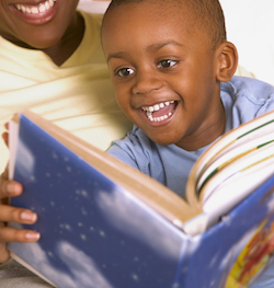 Boy Reading Personalized Books